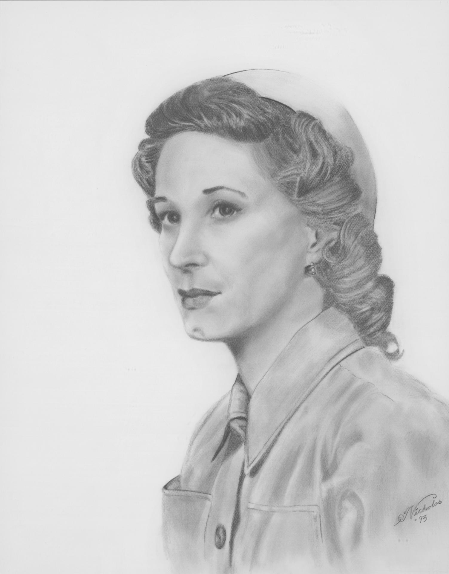 "Mary Elizabeth Welch: 30"" x 38"" Graphite on Paper"