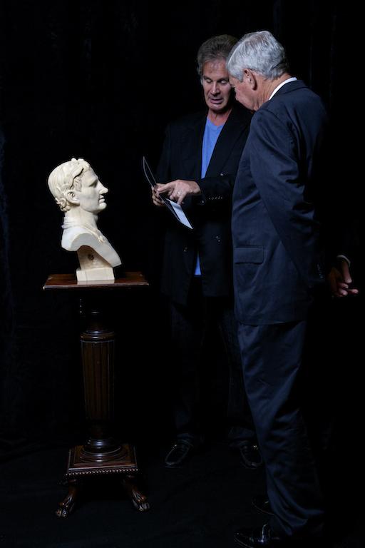 Setting up for the photo shoot of the Honorable Bob Graham, Senator, Governor, and Statesman.