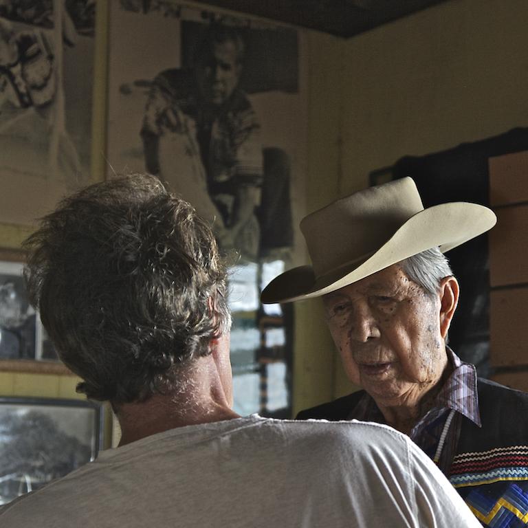 Nicholas with Chairman Buffalo Tiger of the Miccosukee