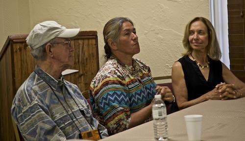Guardian Franklin Adams, Miccosukee Elder Betty Osceola (niece of Guardian Buffalo Tiger), and Guardian Deb Jansen ©Connie Bransilver