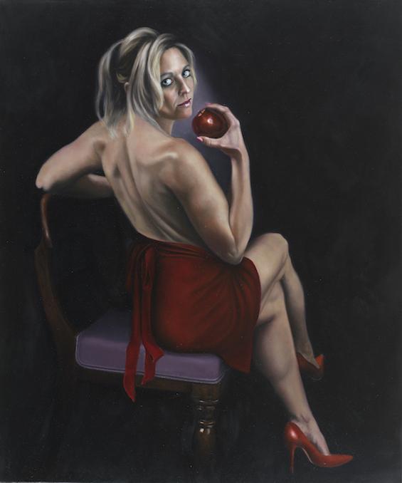"Original Sin, 36""x30"" Oil on Canvas ©Nicholas Petrucci"