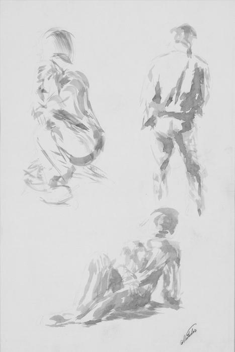 "Movements, 30""x25"" Ink on Paper ©Nicholas Petrucci"