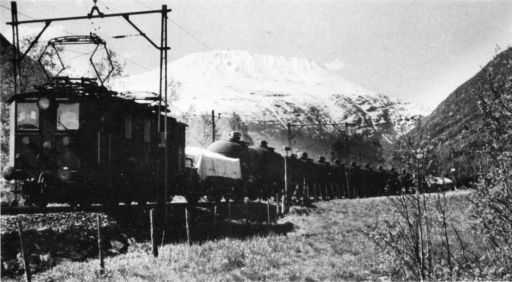 Larsens pantograf i bruk på rjukanbanen