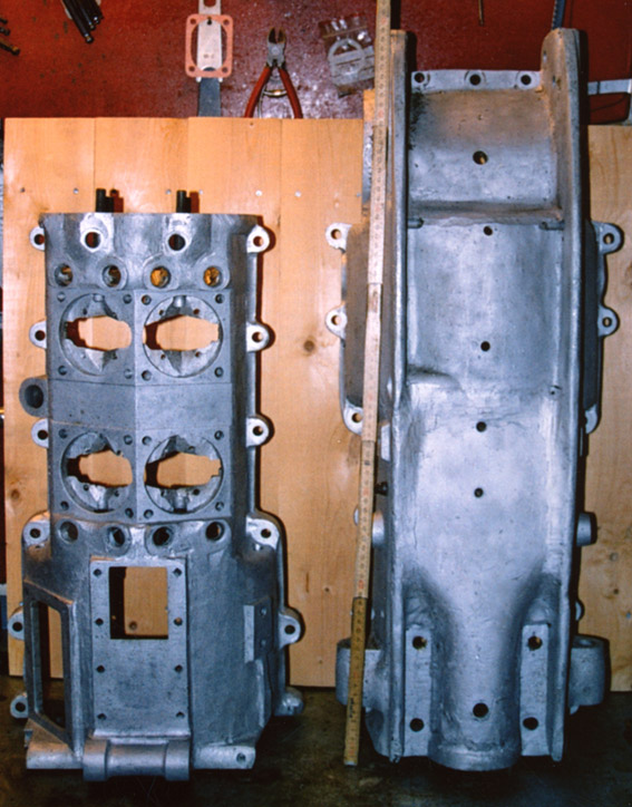 Med innstøpte rammeprofiler i aluminiumen