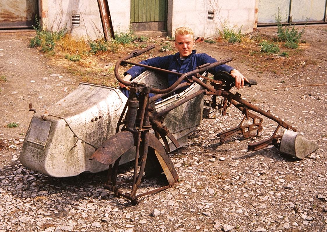 Flemming på prøvetur i 1992