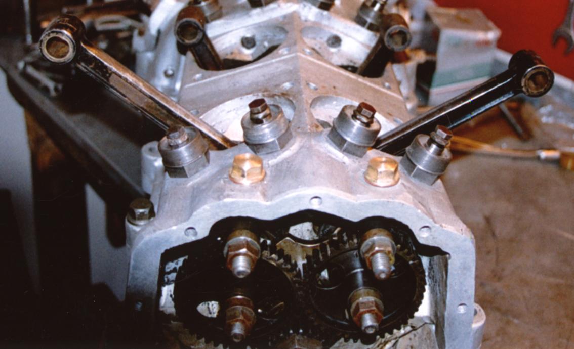 2 x V-twin motor sett forfra