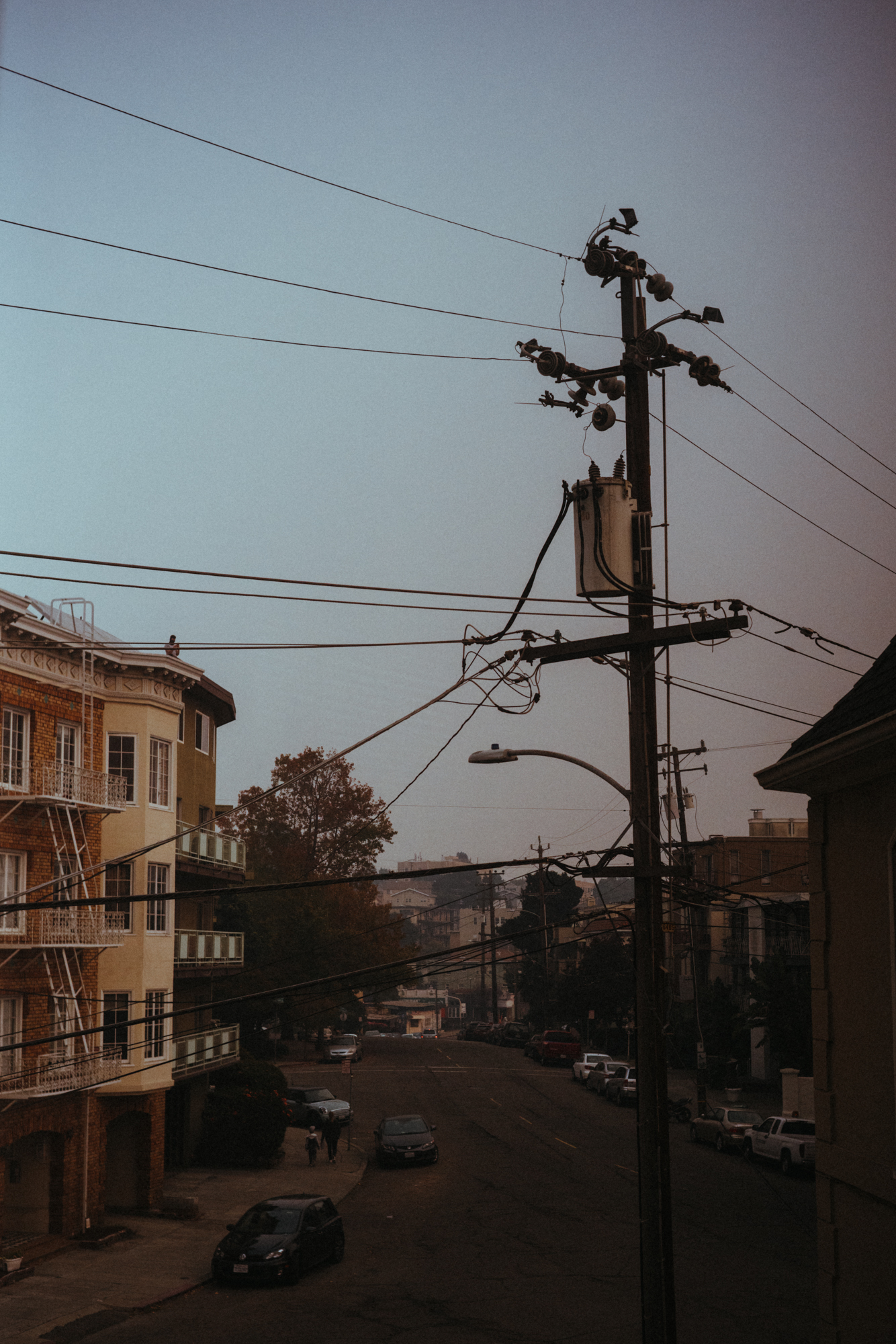 Oakland, California with smoke from the nearby Camp Fire