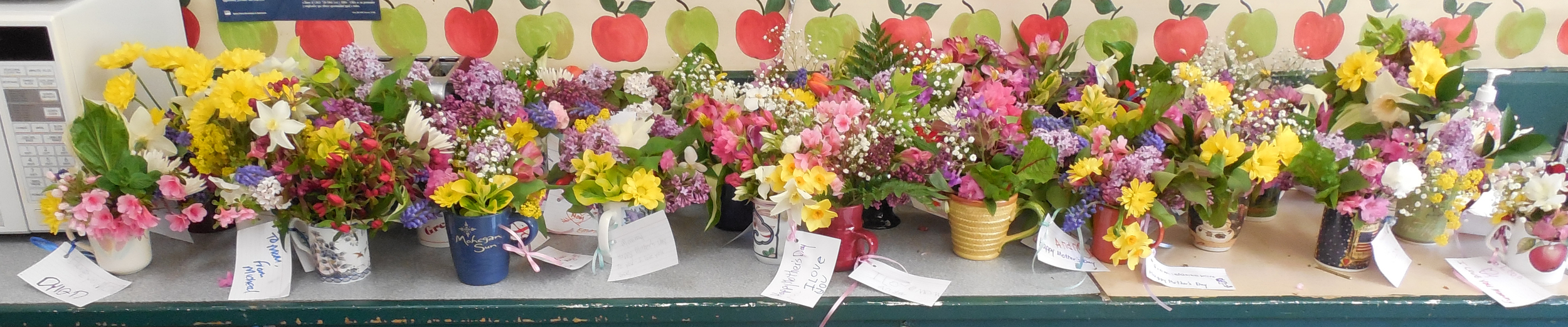 Kindergardeners' Mother's Day Arrangements