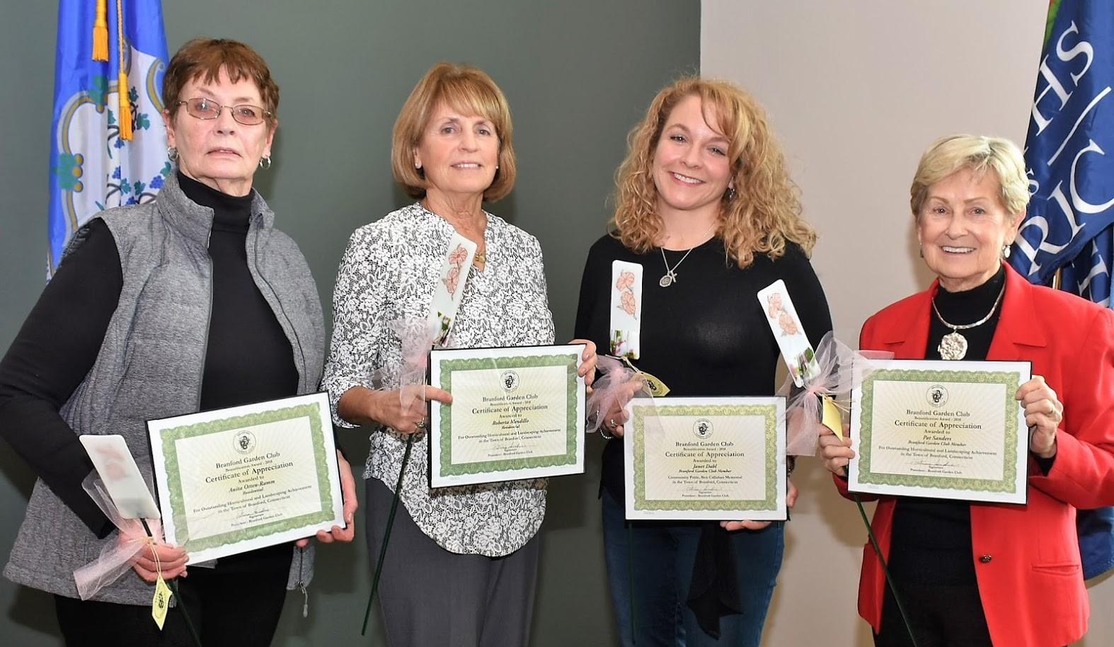 The Winners: Anita Otten-Ramm, Roberta Mendillo, Janet Dahl, Pat Sanders