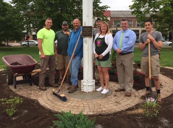 Veterans Memorial Garden Renovation Crew