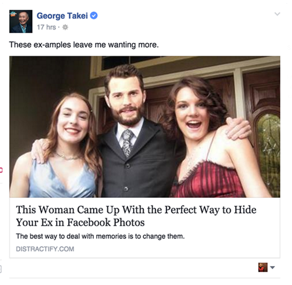 George Takei on Facebook