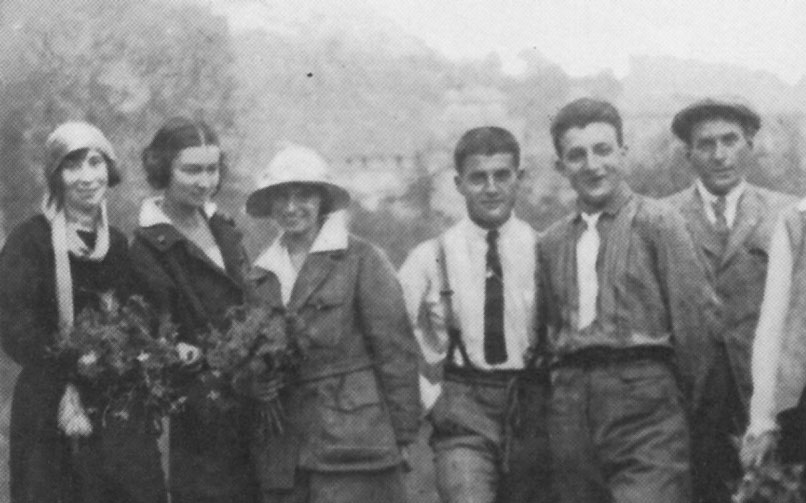 Pictured: Blessed Pier Giorgio Frassati (center) and companions.
