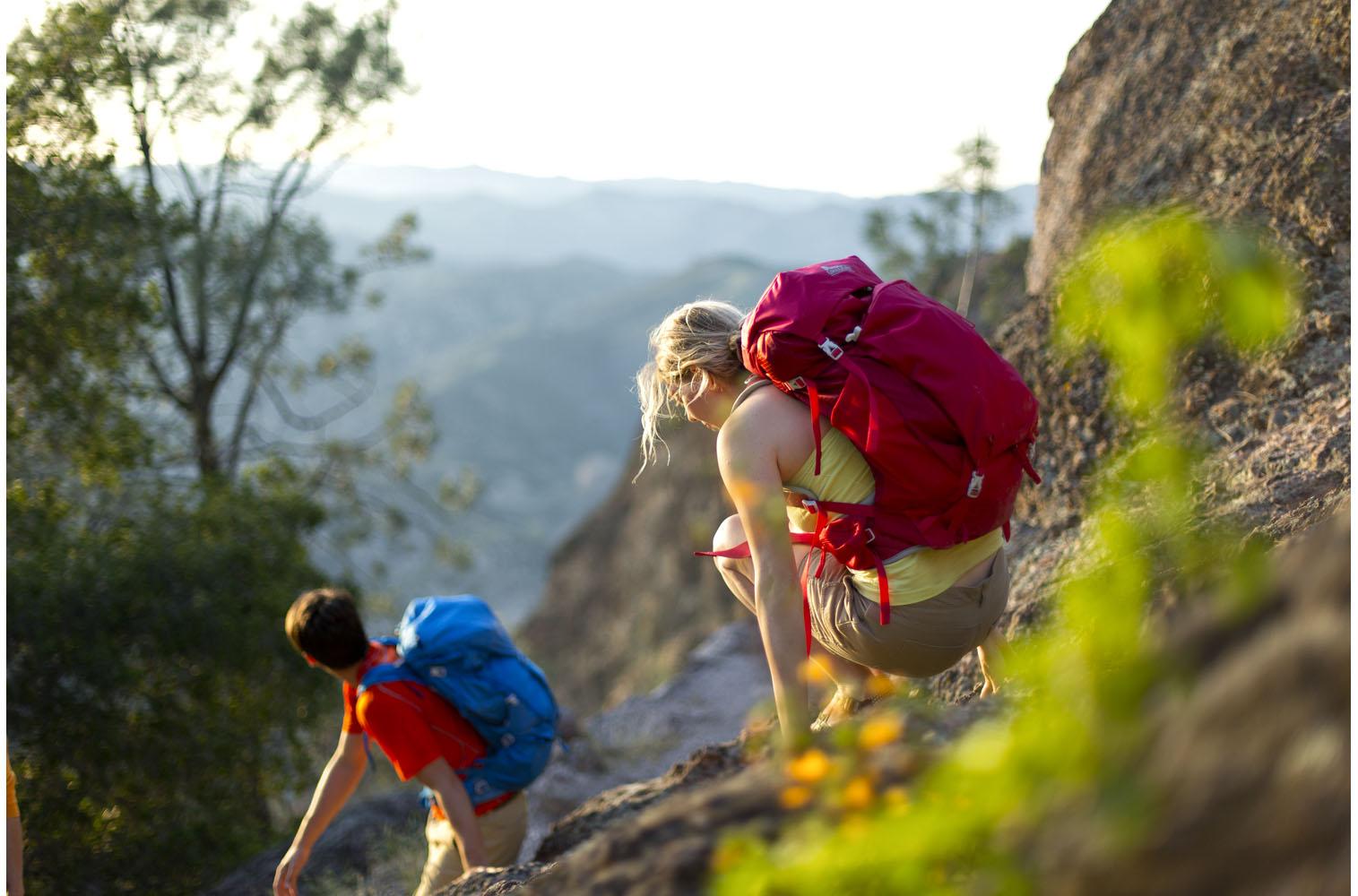 Lifestyle: Three friends on a hiking road trip through the Big Sur coast, California
