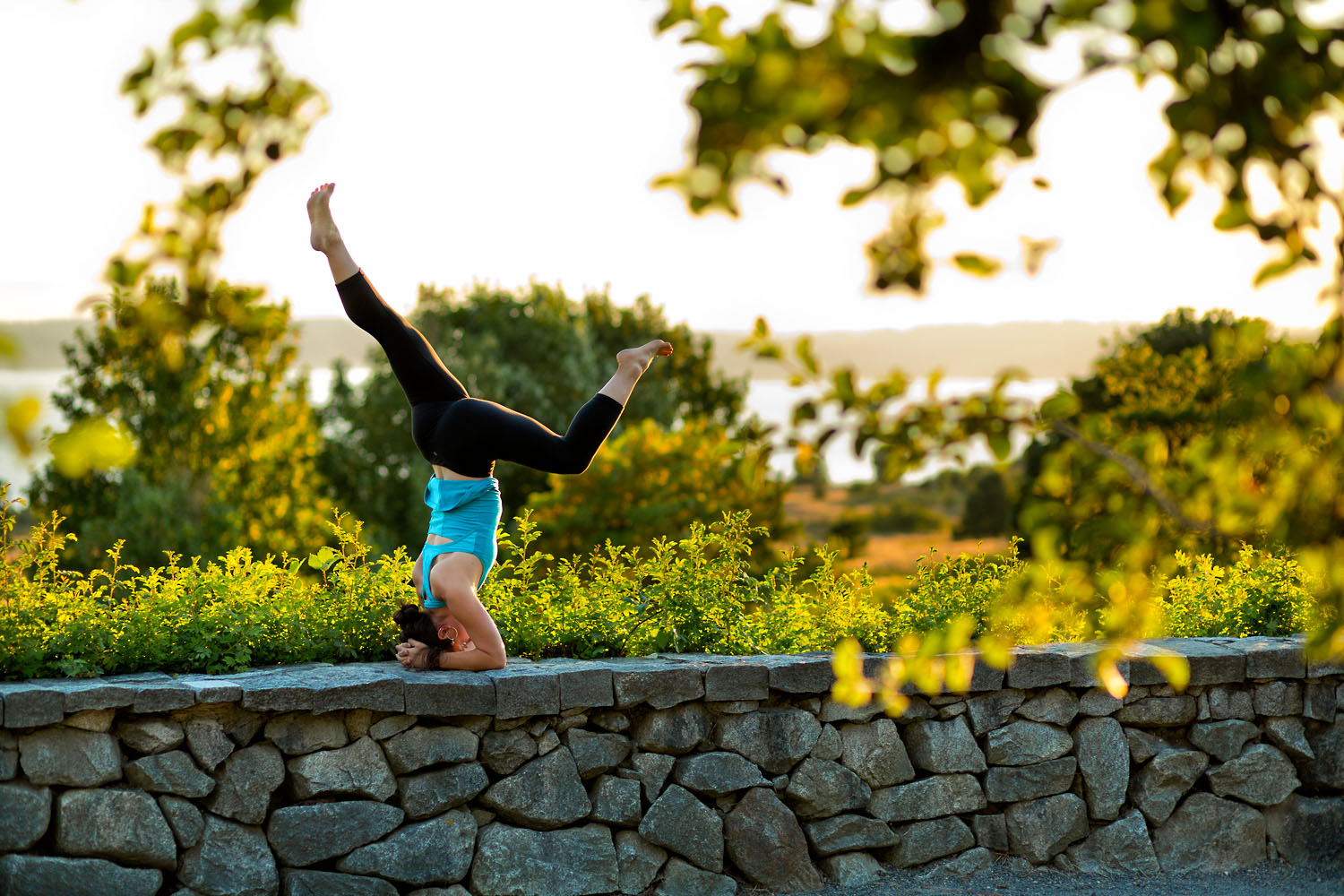 Lifestyle: Johnna White practicing yoga at Discovery Park, Seattle