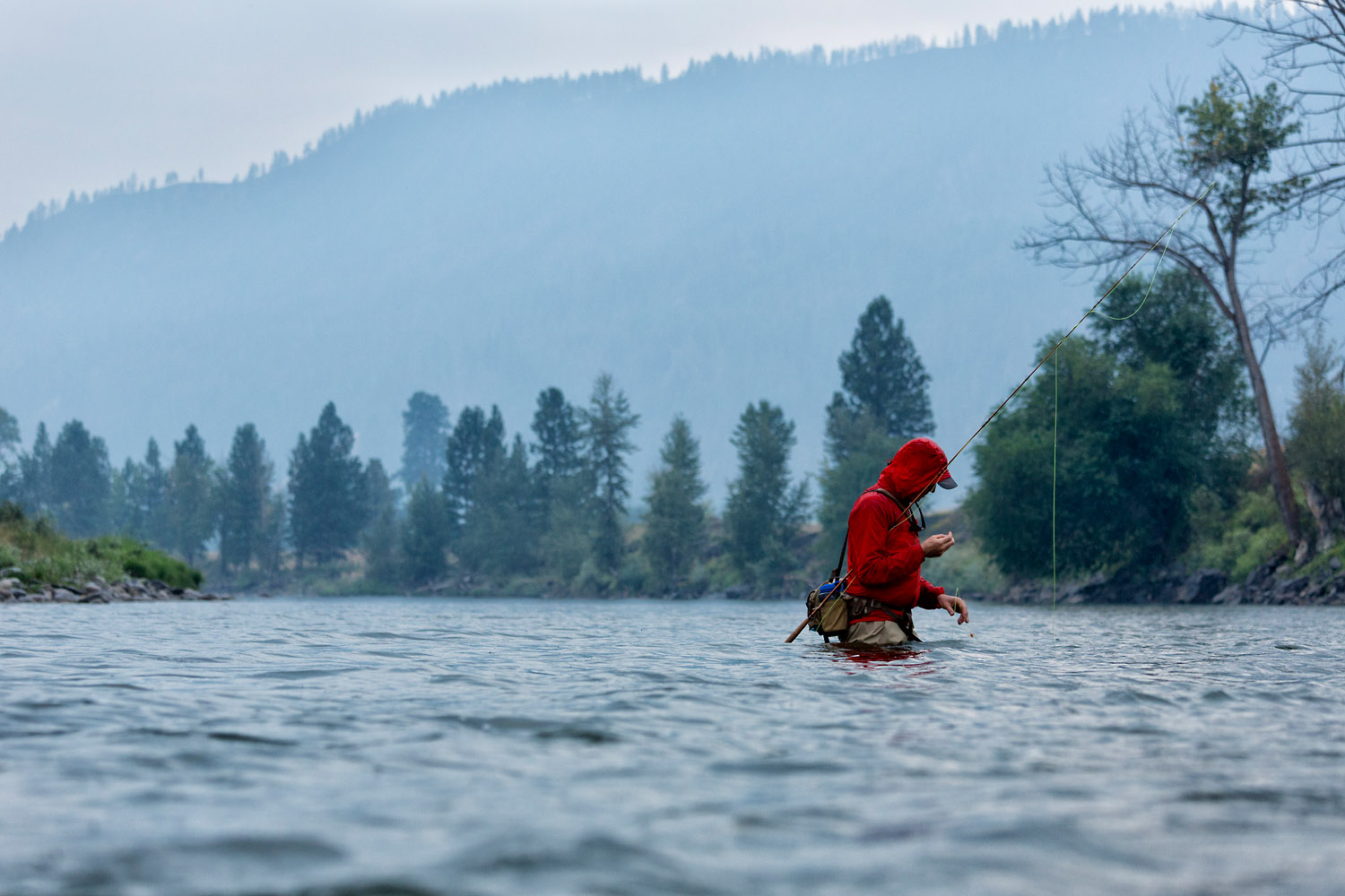 Lifestyle: Scott Schell fly fishing on the Methow River, Methow Valley, Washington