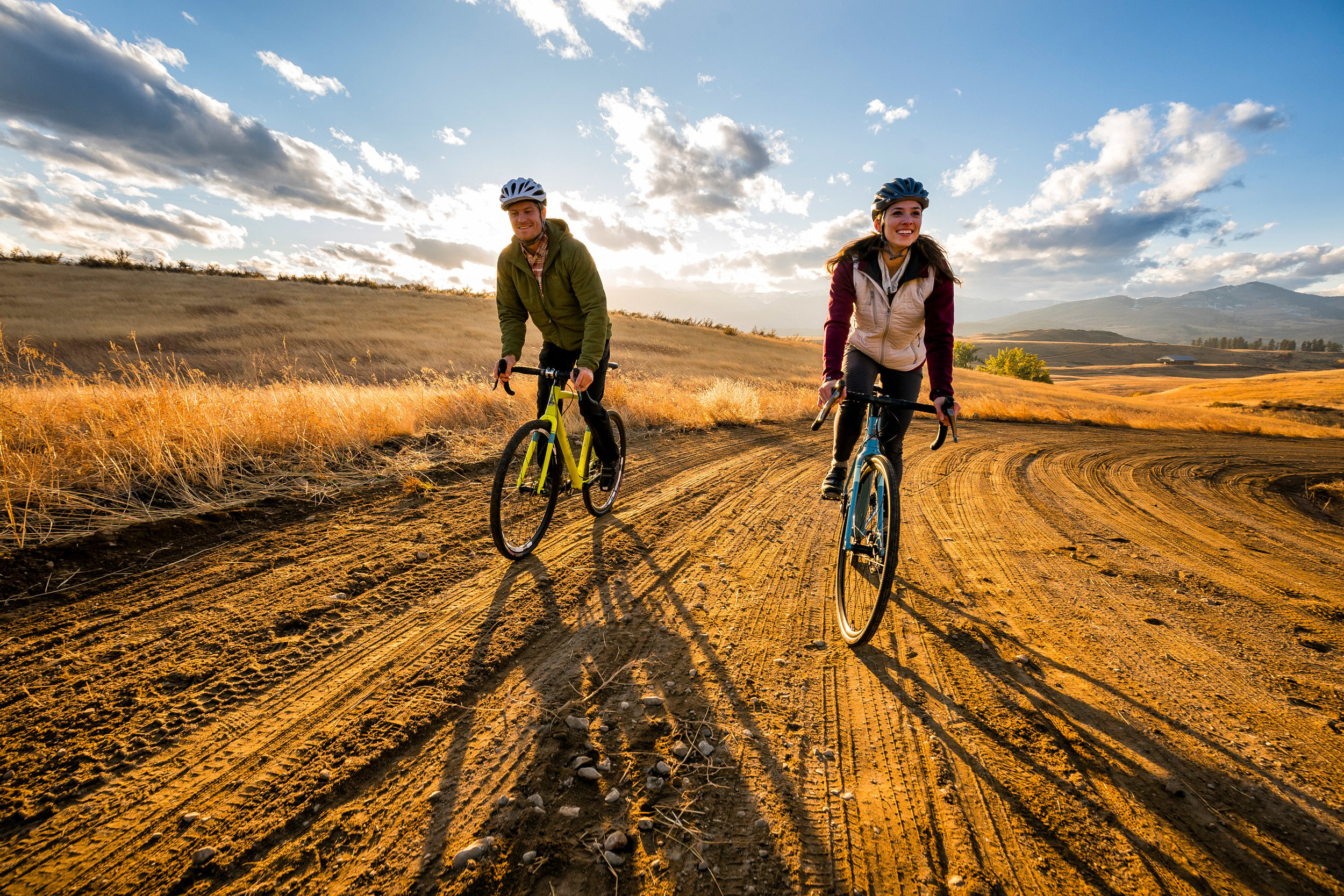 Adventure: Bike riding in the Methow Valley in the fall, Winthrop, Washington