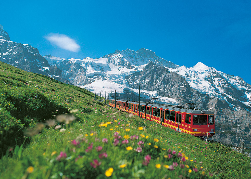 Railway to the Jungfraujoch (© Jungfraubahnen Management)