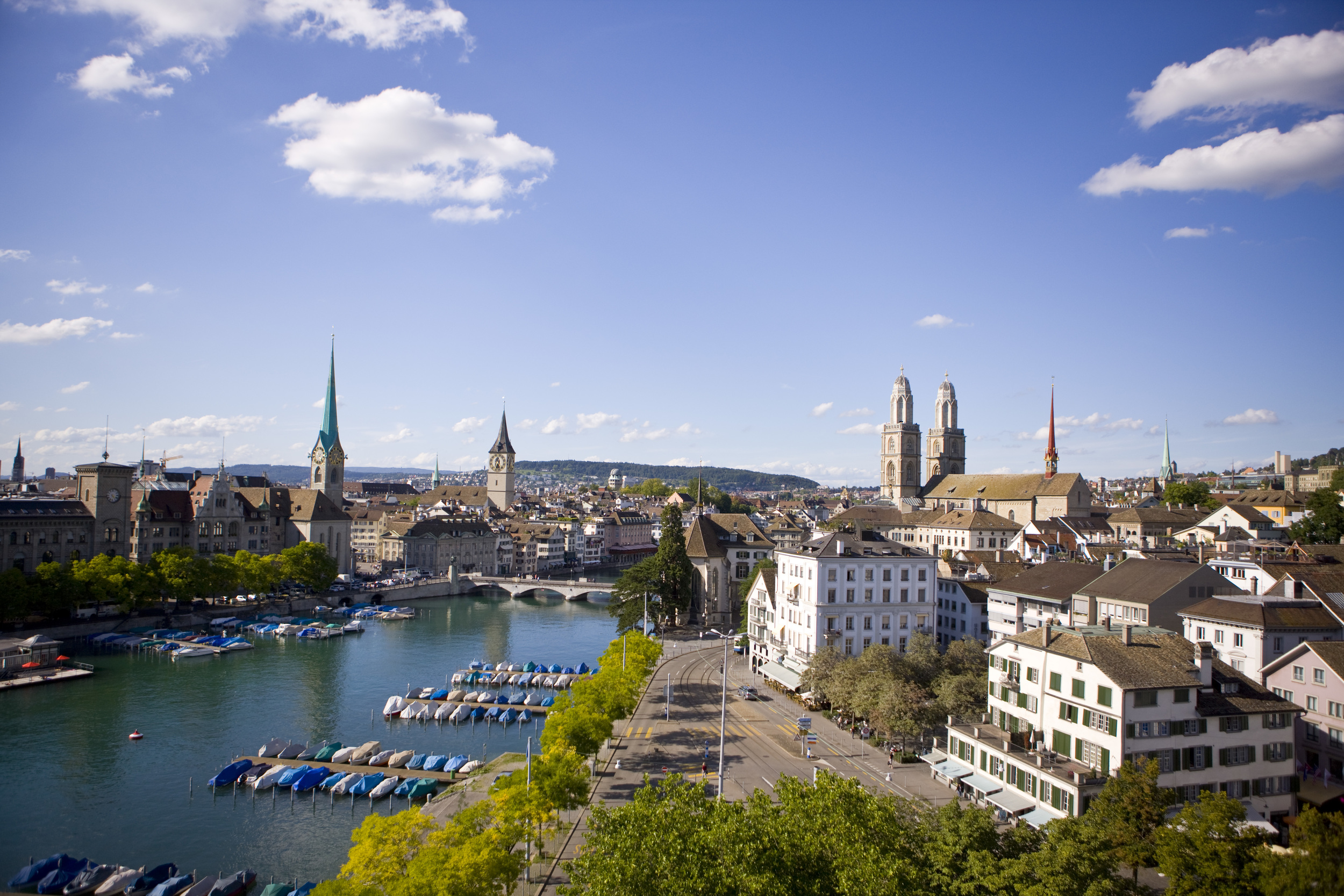 The city of Zurich (© Zürich Tourismus)
