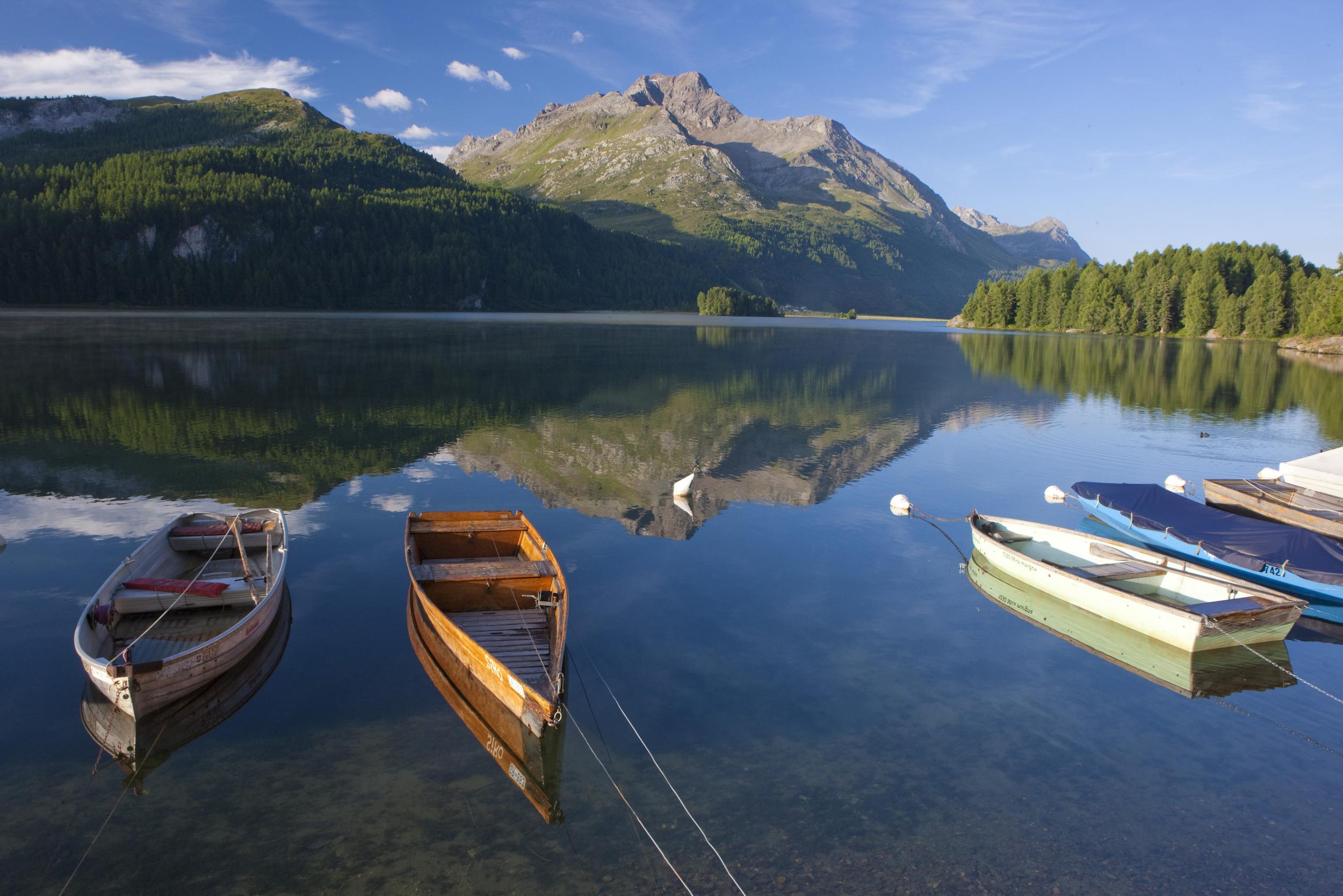Engadin lakes, st. moritz