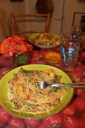 pasta primavera with seasonal vegetables