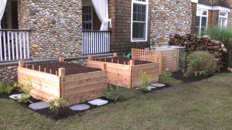 Custom Garden Boxes and Perennial Plantings