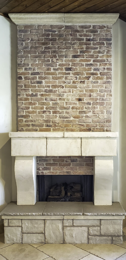 Stone Veneer Cast Brick, How To Cover A Brick Fireplace With Stone Veneer