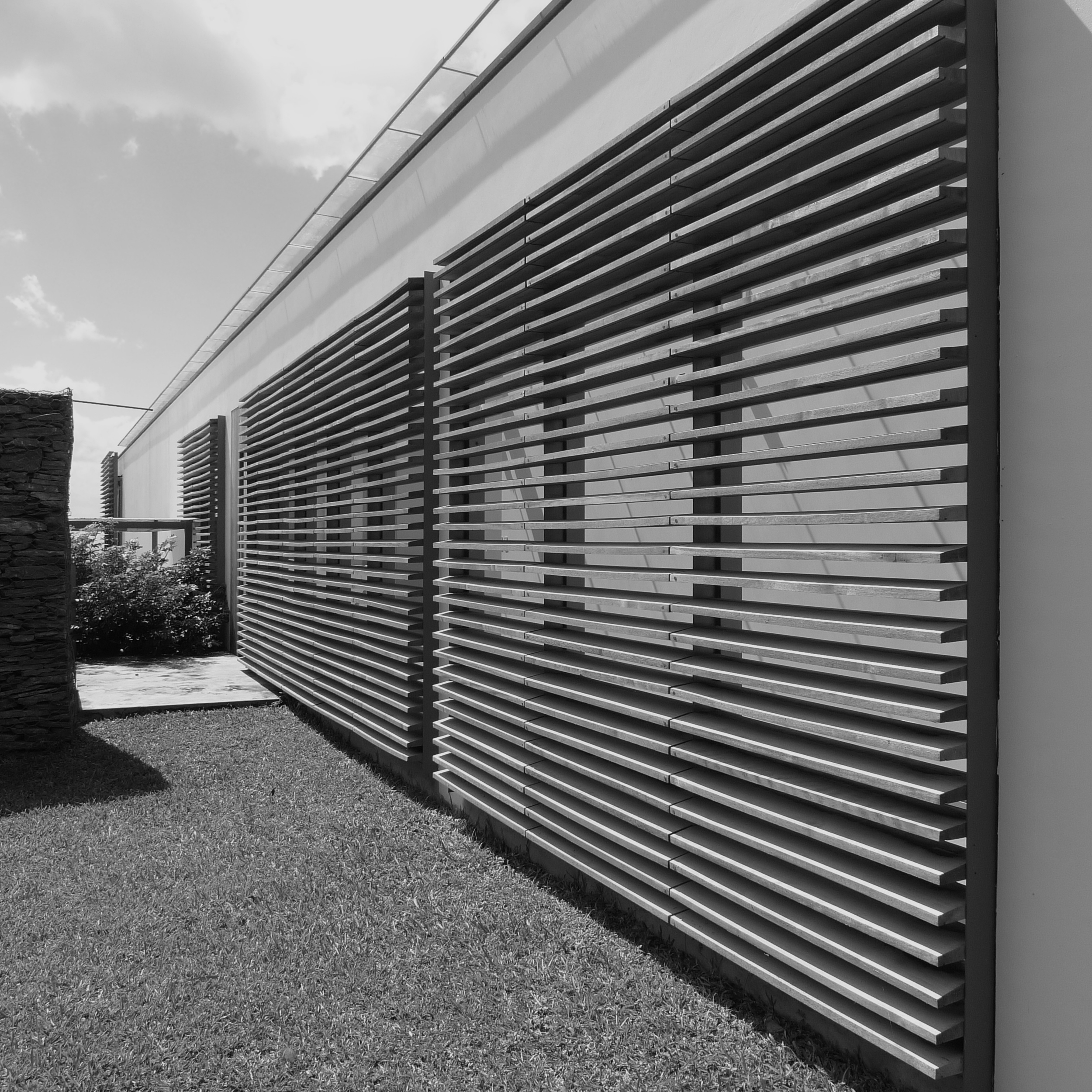 upper level timber louvres