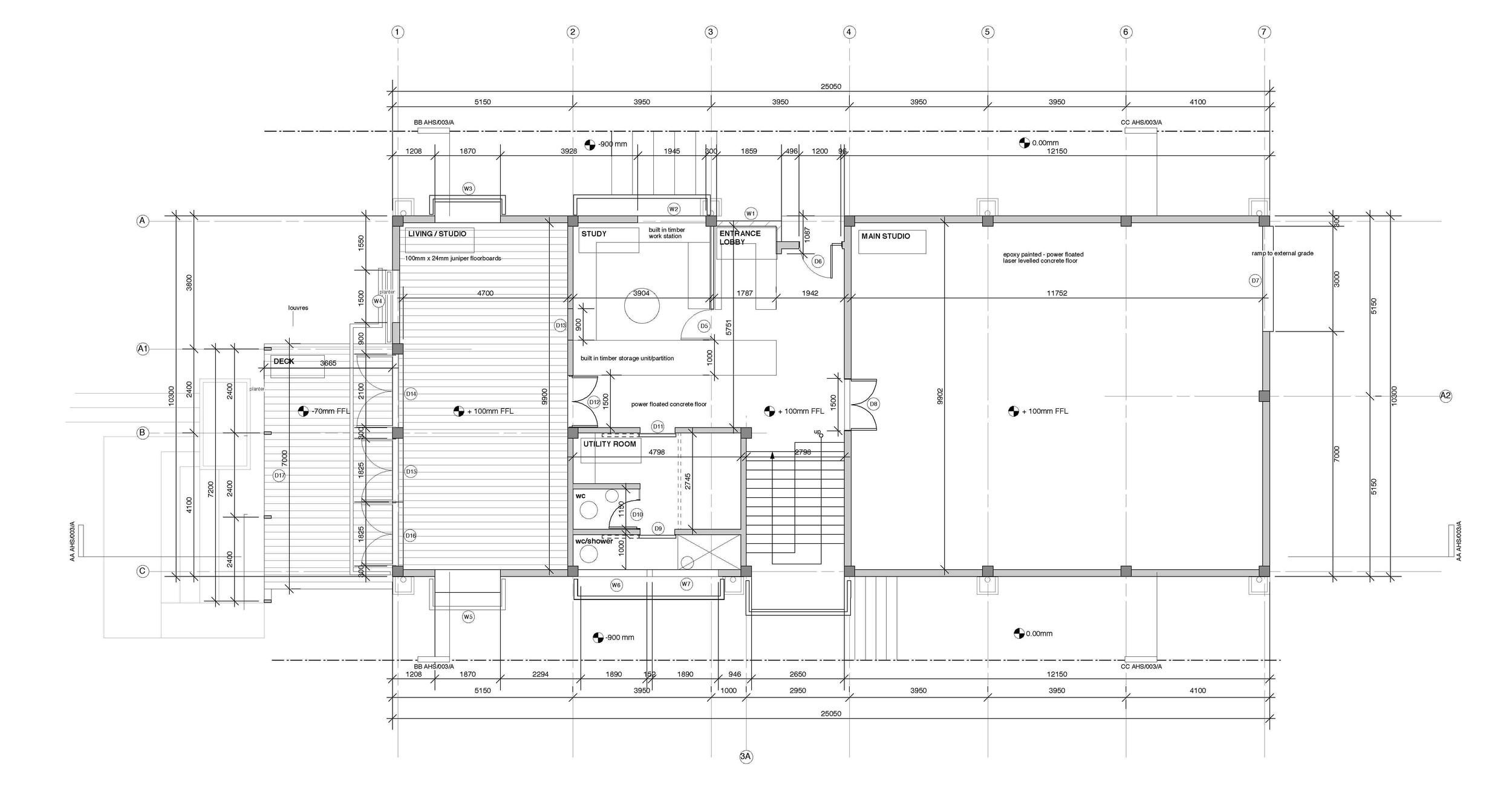splice studio : ground floor plan