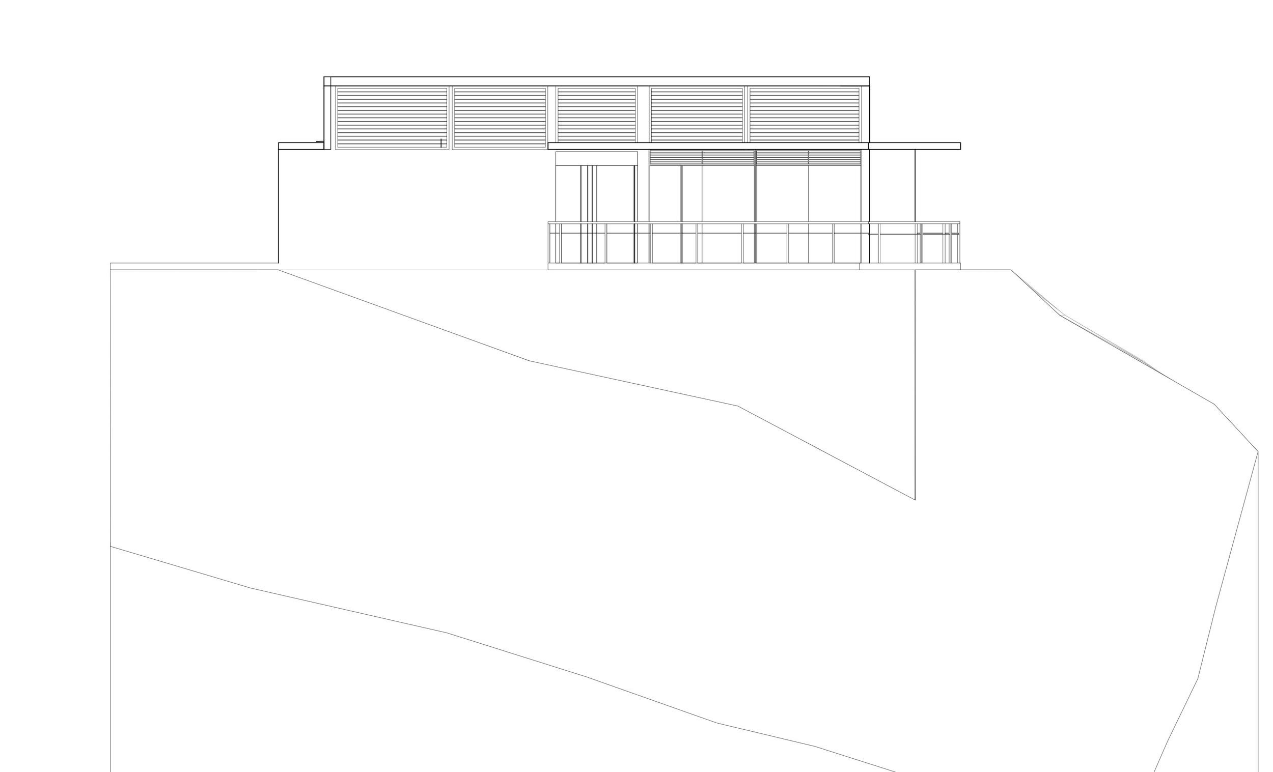 julien house : champs fleurs : elevation