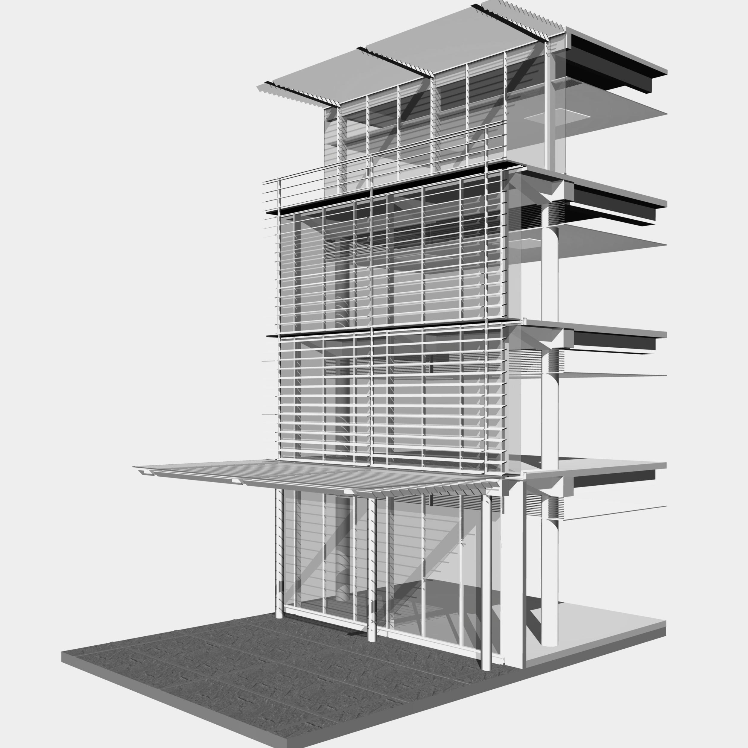façade digital model