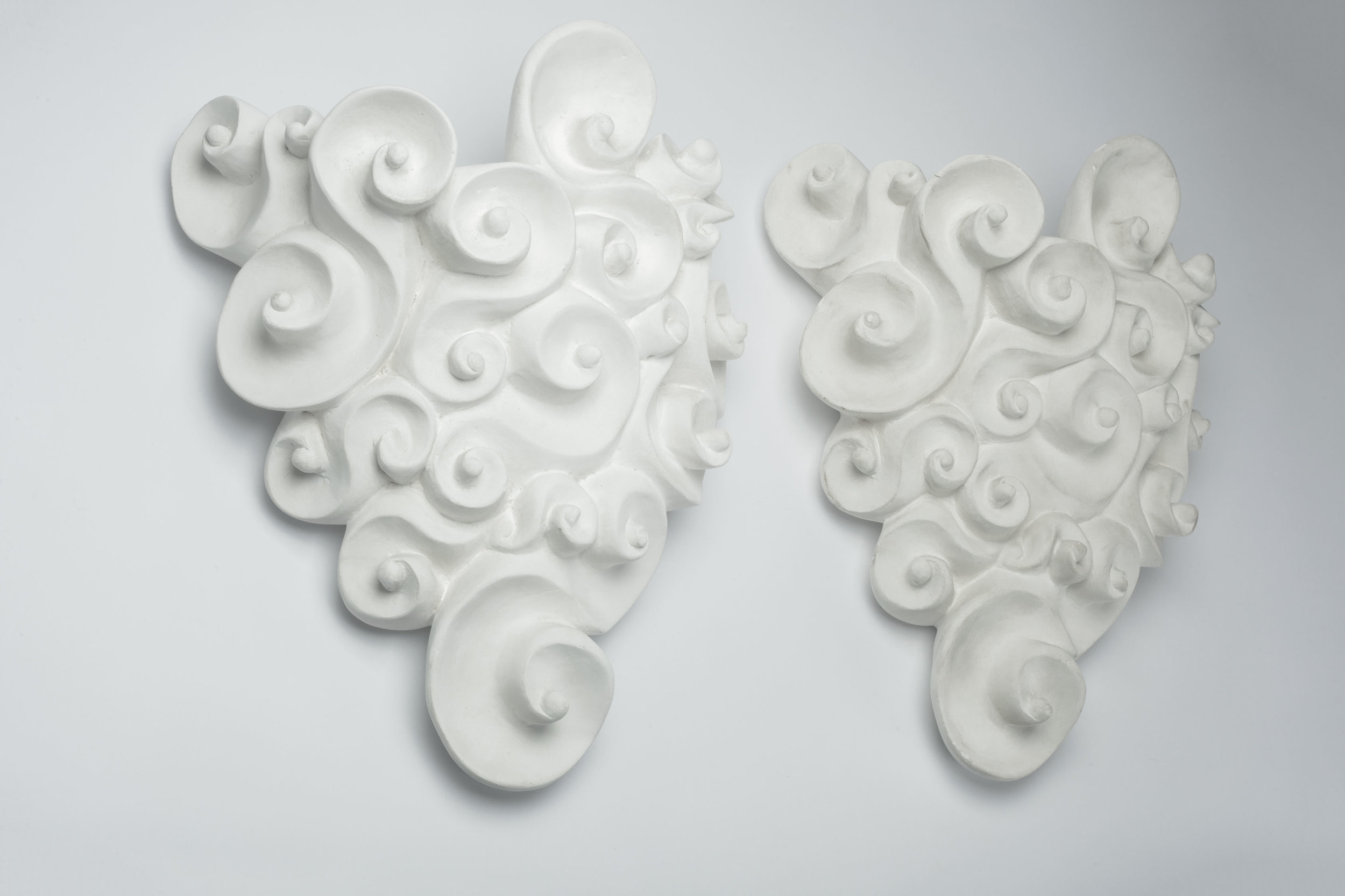 French Wall Plant Sconces Plaster Baroque