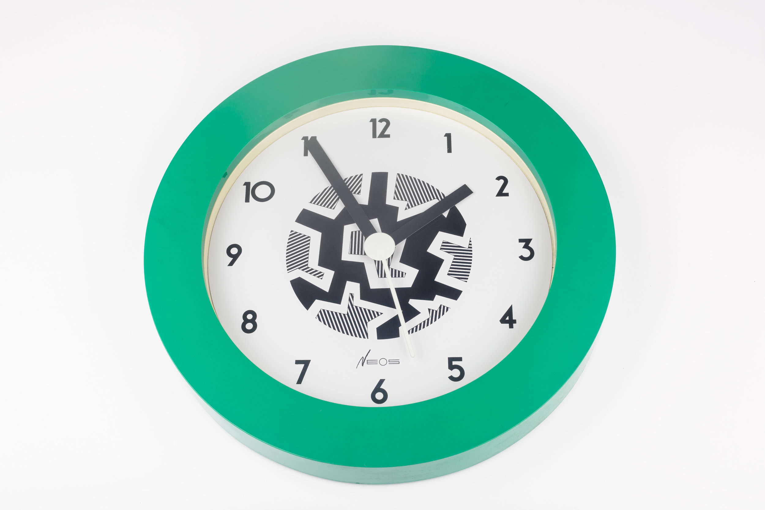 POSTMODERN WALL CLOCK BY GEORGE SOWDEN FOR NEOS LORENZ, ITALY 1980S