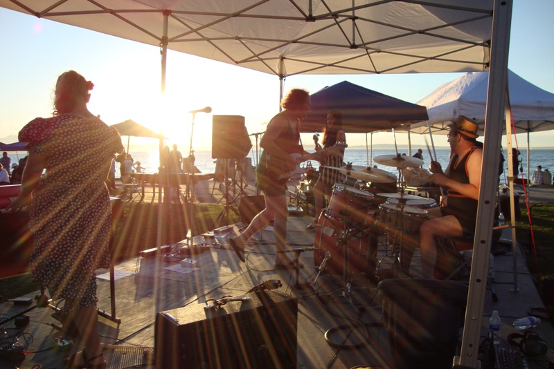Brides of Obscurity Live at Alki Beach in West Seattle
