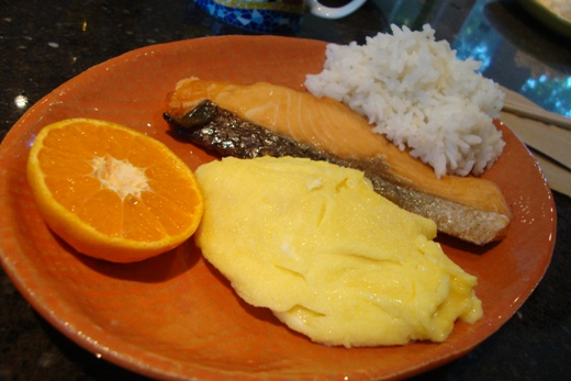My mother cooked me a Japanese breakfast!