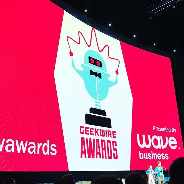 2017 Geekwire Awards! #gwawards #onlyatvulcan #mopop