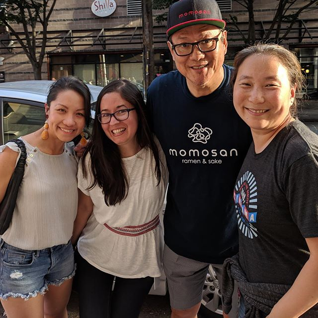 THANK YOU @chef_morimoto for a fabulous dinner on the opening night at @momosanseattle in #Seattle!! We all had a great time and the food was DELICIOUS! 😋 #ironchefmorimoto #morimoto #seattlerestaurants #seattlefoodie #foodie #momosanramen #momosan