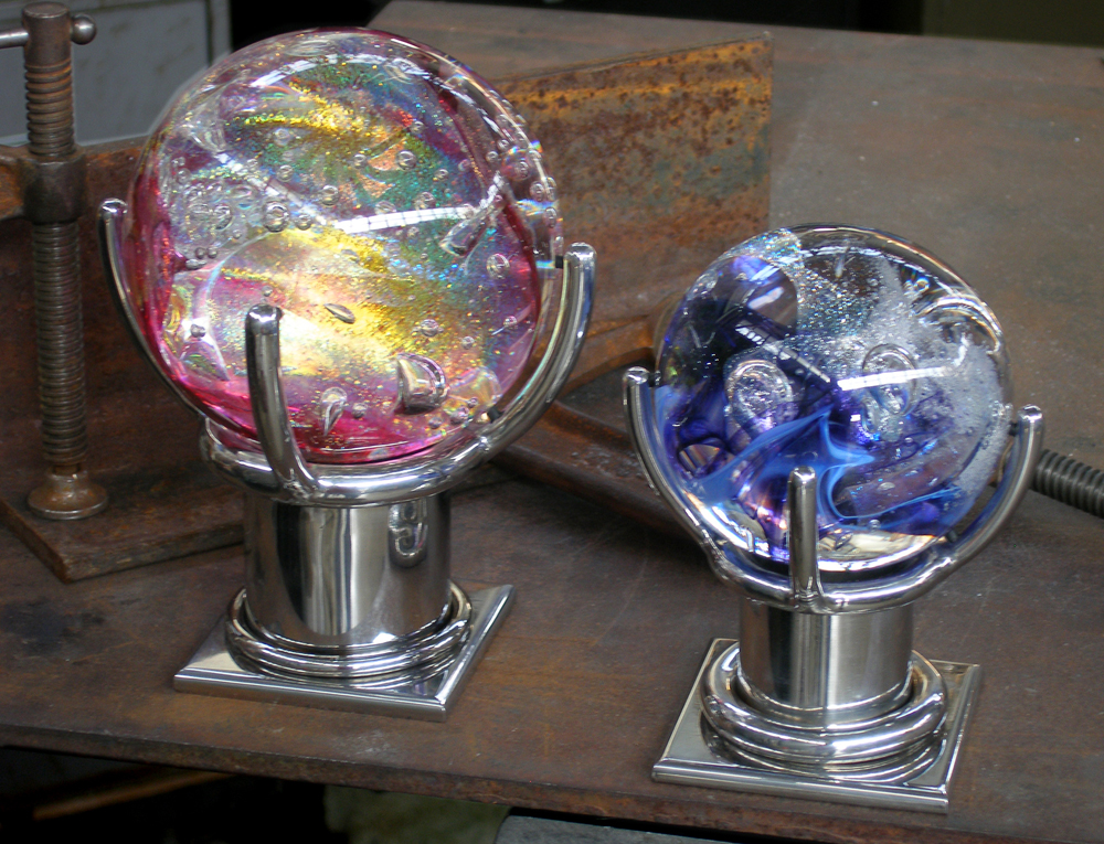 GLASS ART STAND - WHITTLESEY RESIDENCE