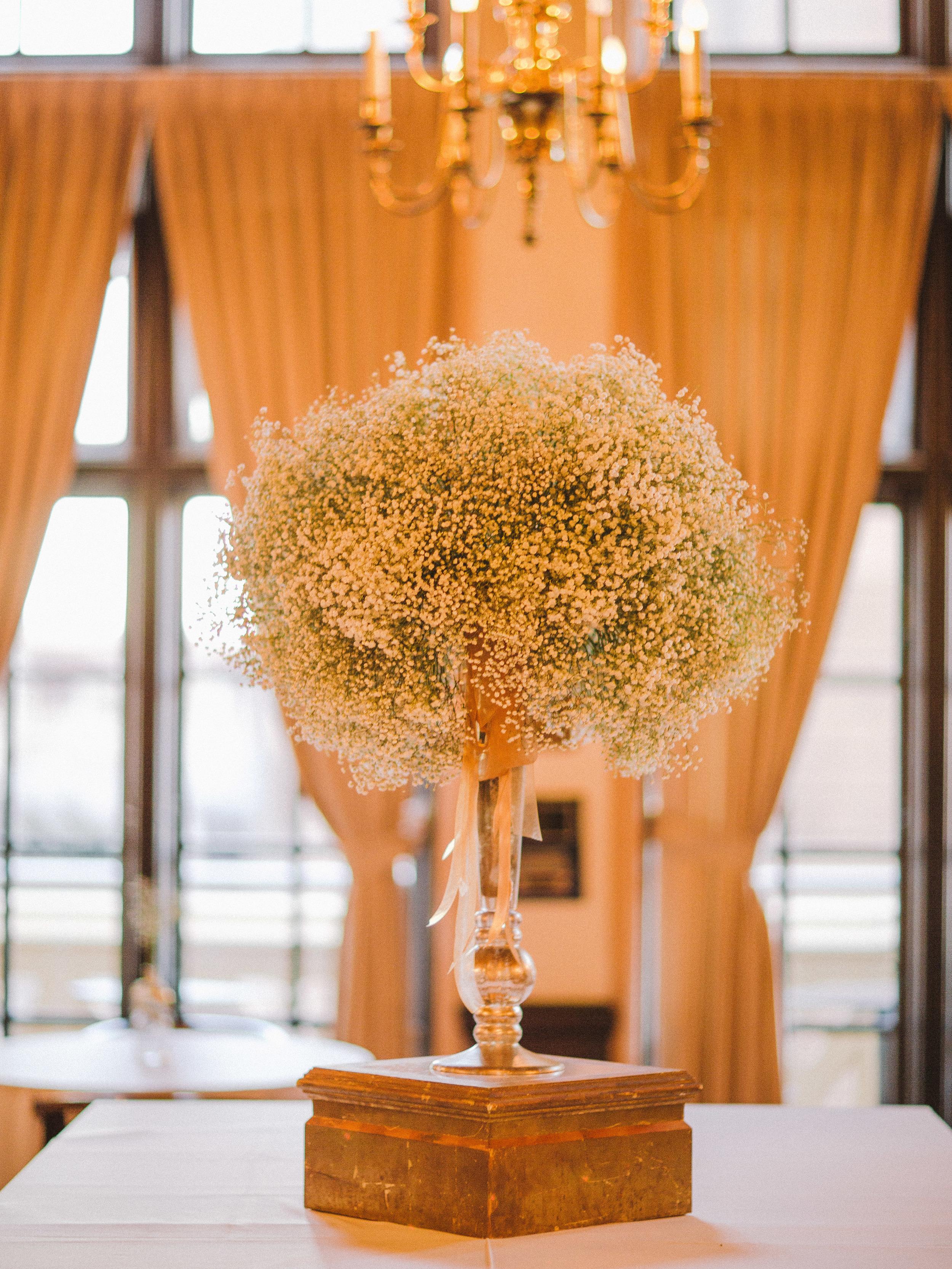 The bride's favorite flower, baby's breath