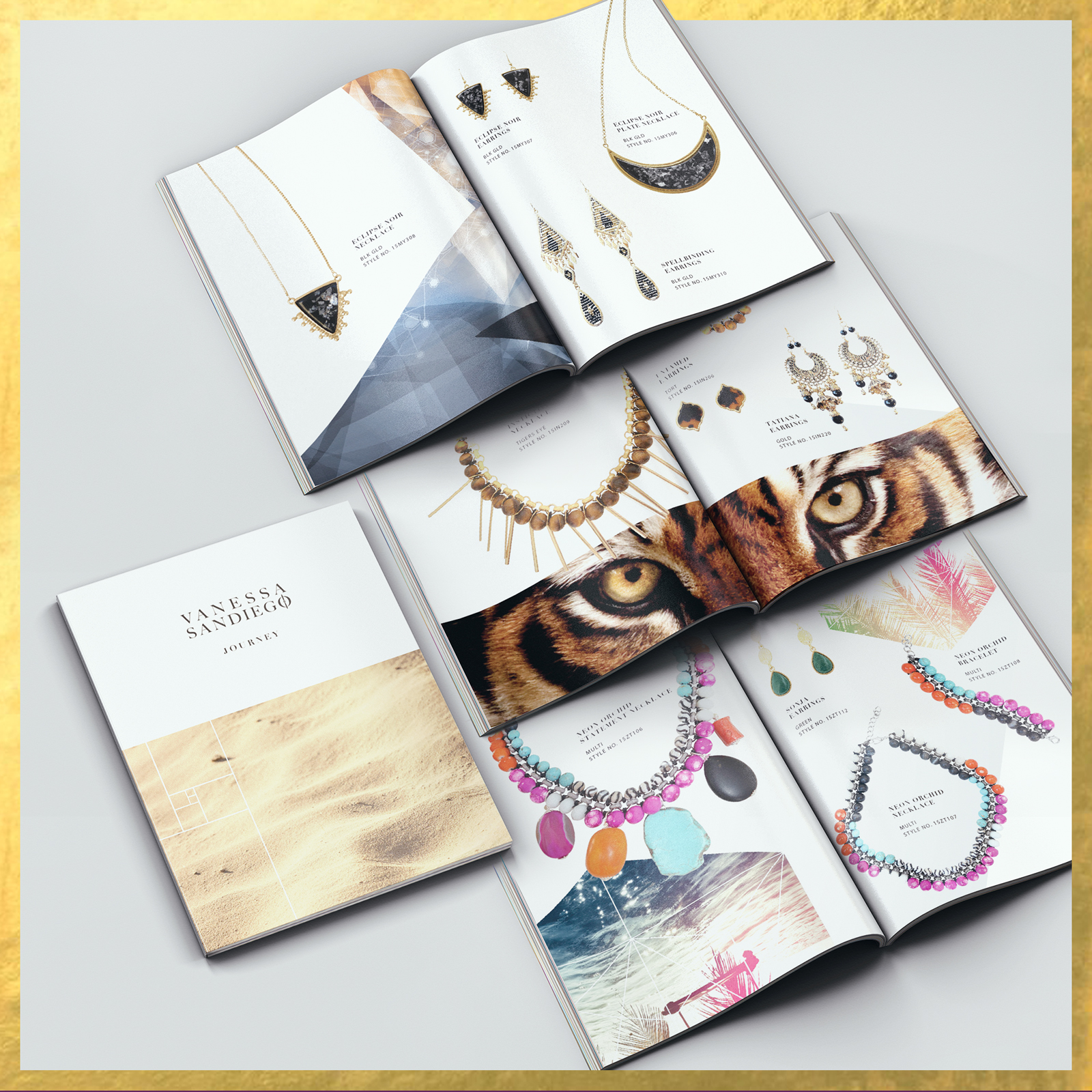 Look-book for jewellery range - Vanessa Sandiego.