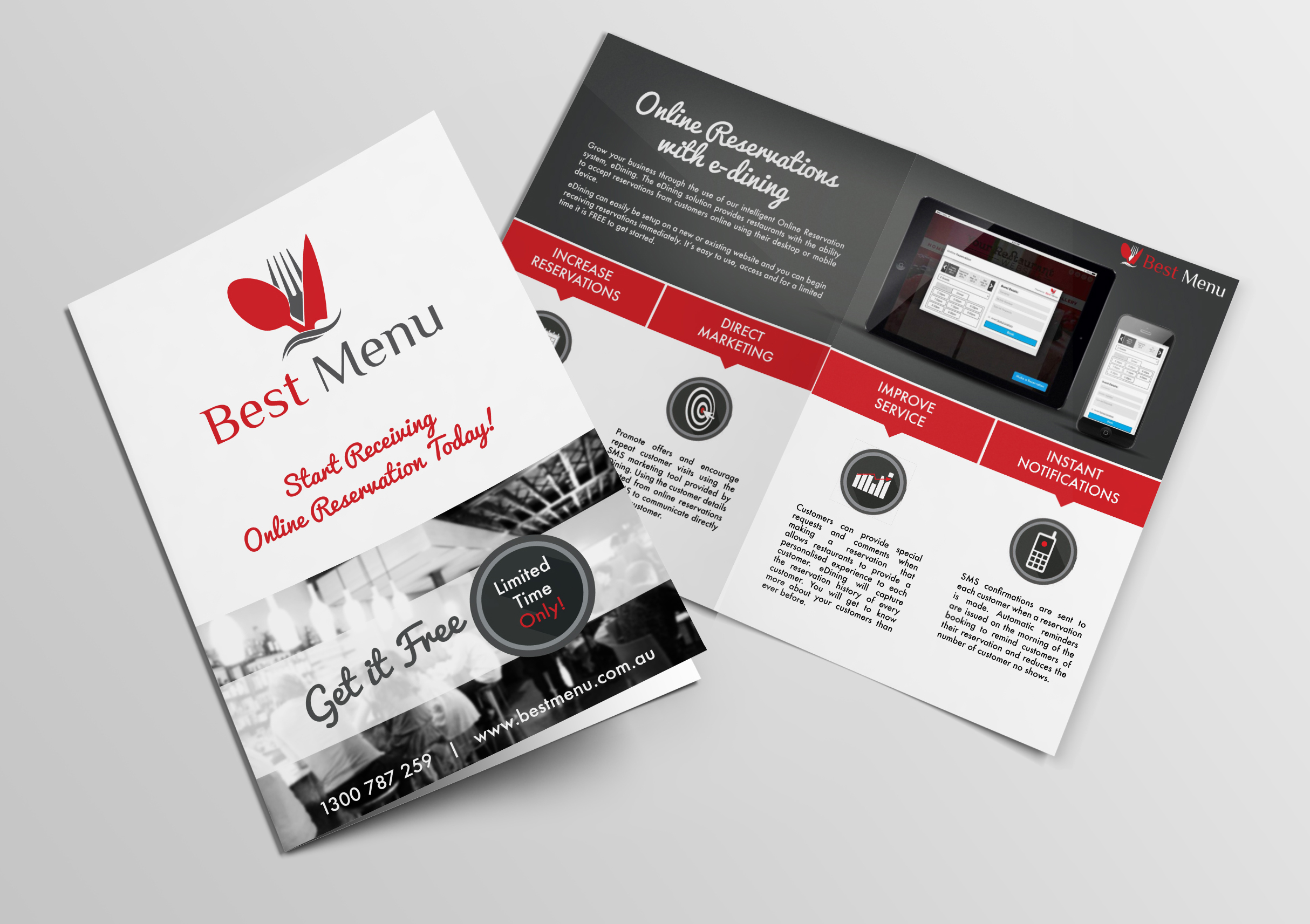 Promotional Flyer for BestMenu.