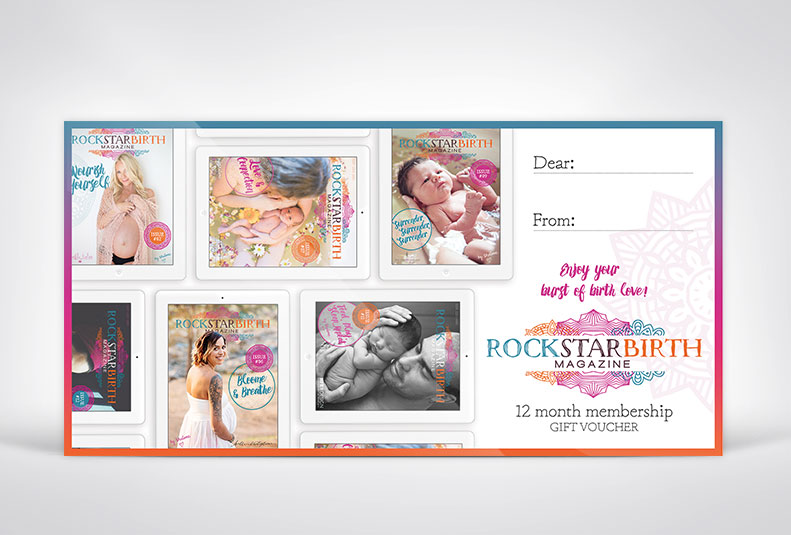 Gift Voucher for Rockstar Birth Magazine.