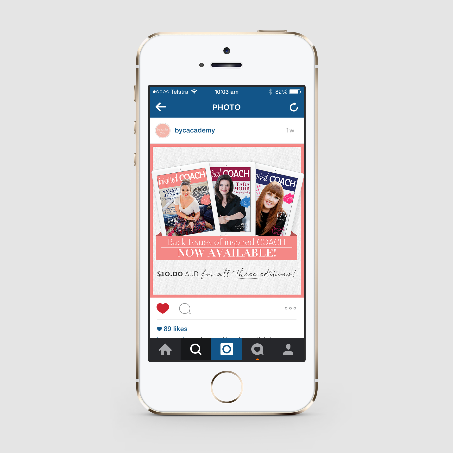 Promotional Instagram image for Beautiful You Coaching Academy - inspired COACH Magazine.