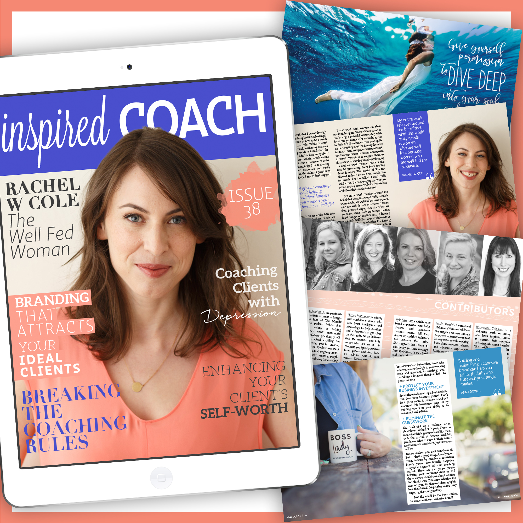 eMagazine design for inspired Coach - Beautiful You Coaching Academy.