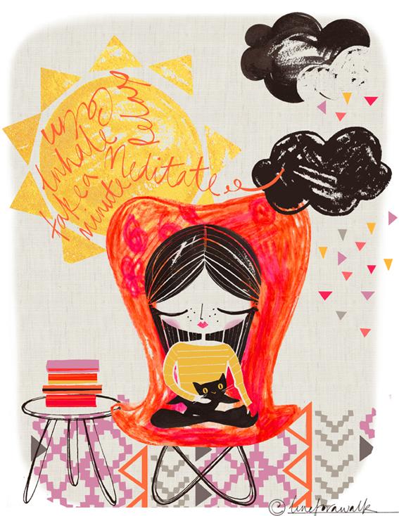 Amended meditating girl