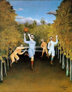 "Henri Rousseau ""The Football Players"""