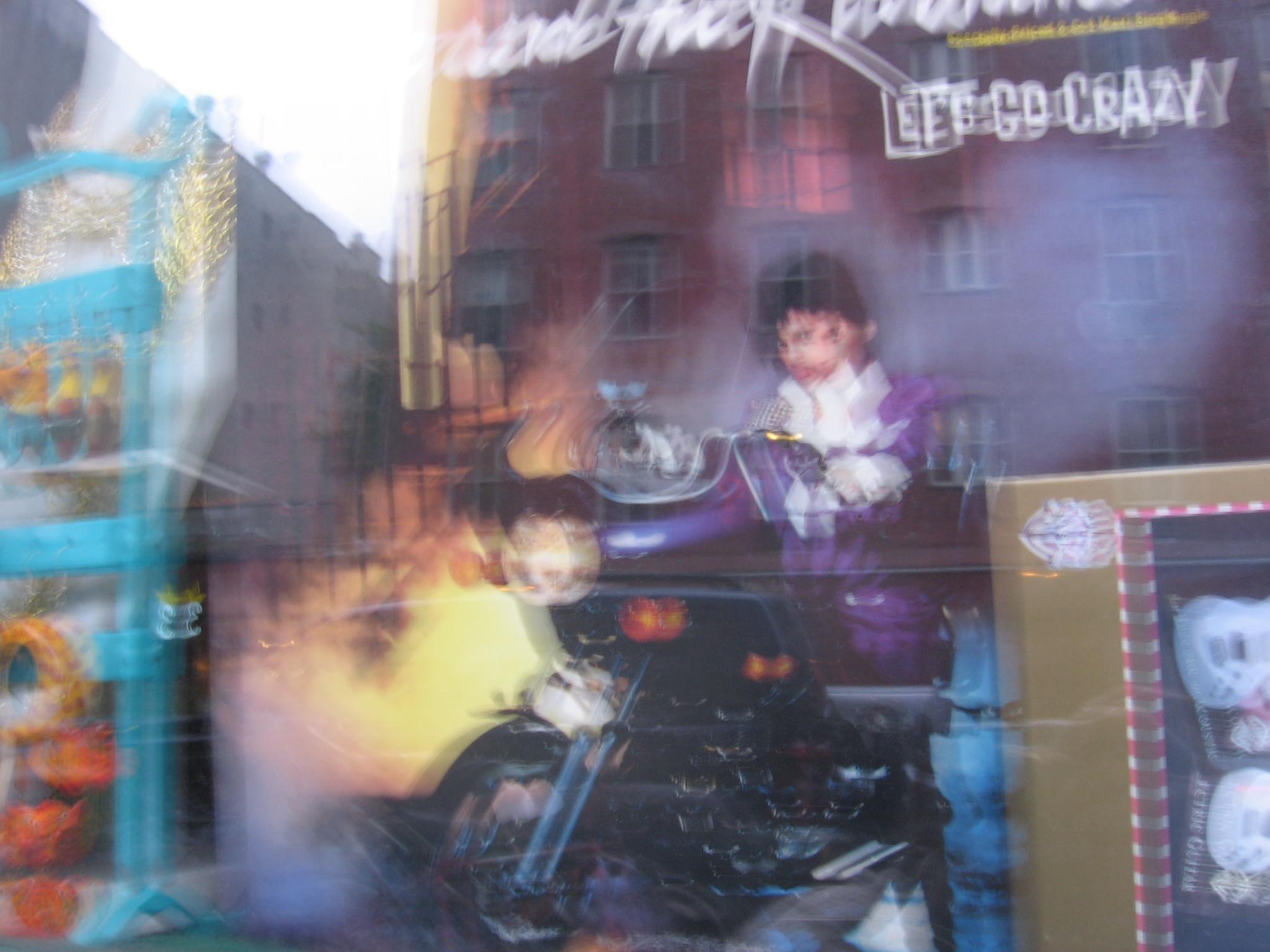 Prince purple rain blurry on purpose.JPG