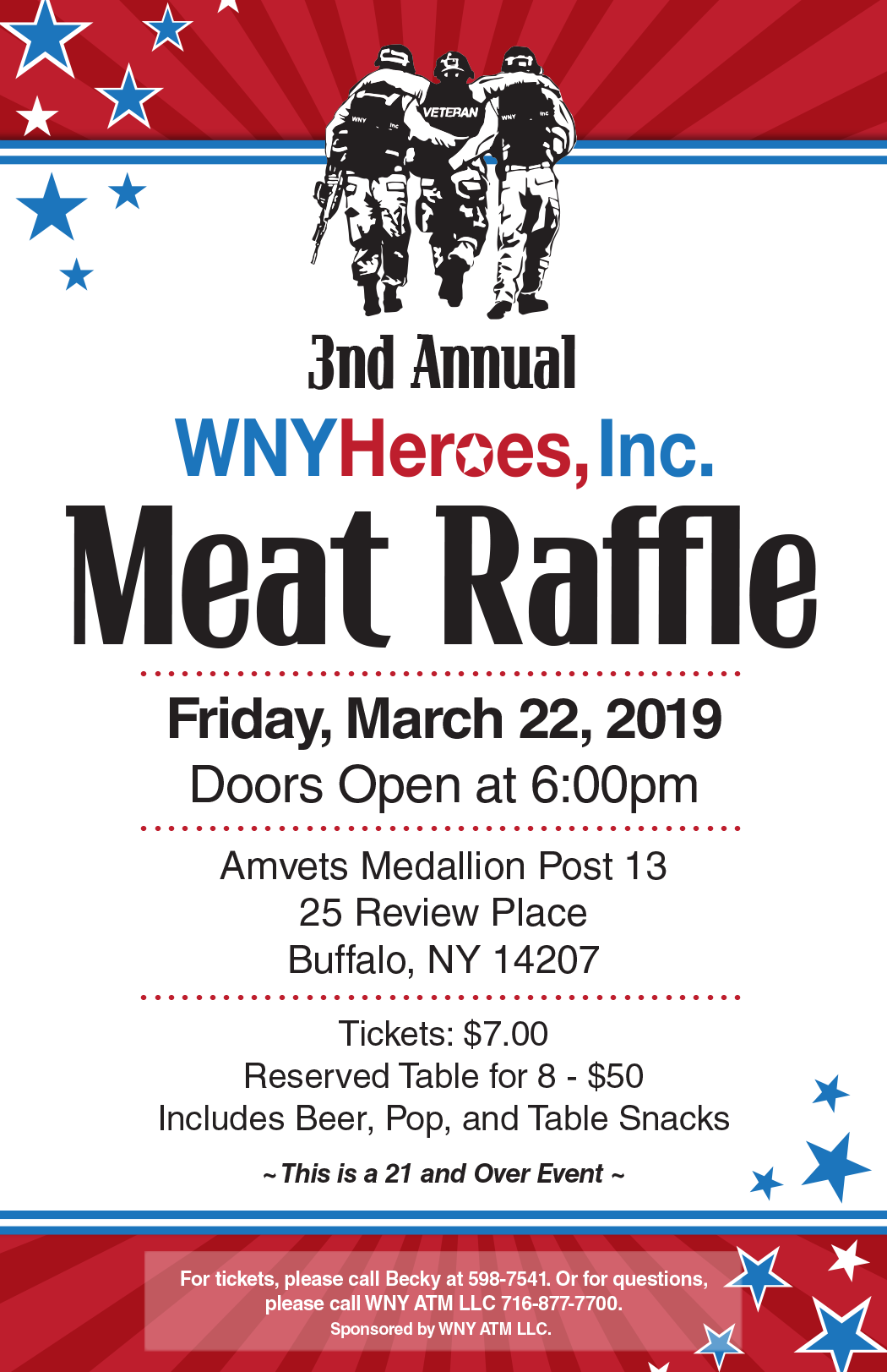 WNY heroes meat raffle posrer 11x17 1_17_19 (end).png