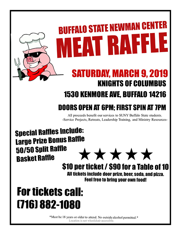 Newman Center Meat Raffle - WNY Flyer.jpg
