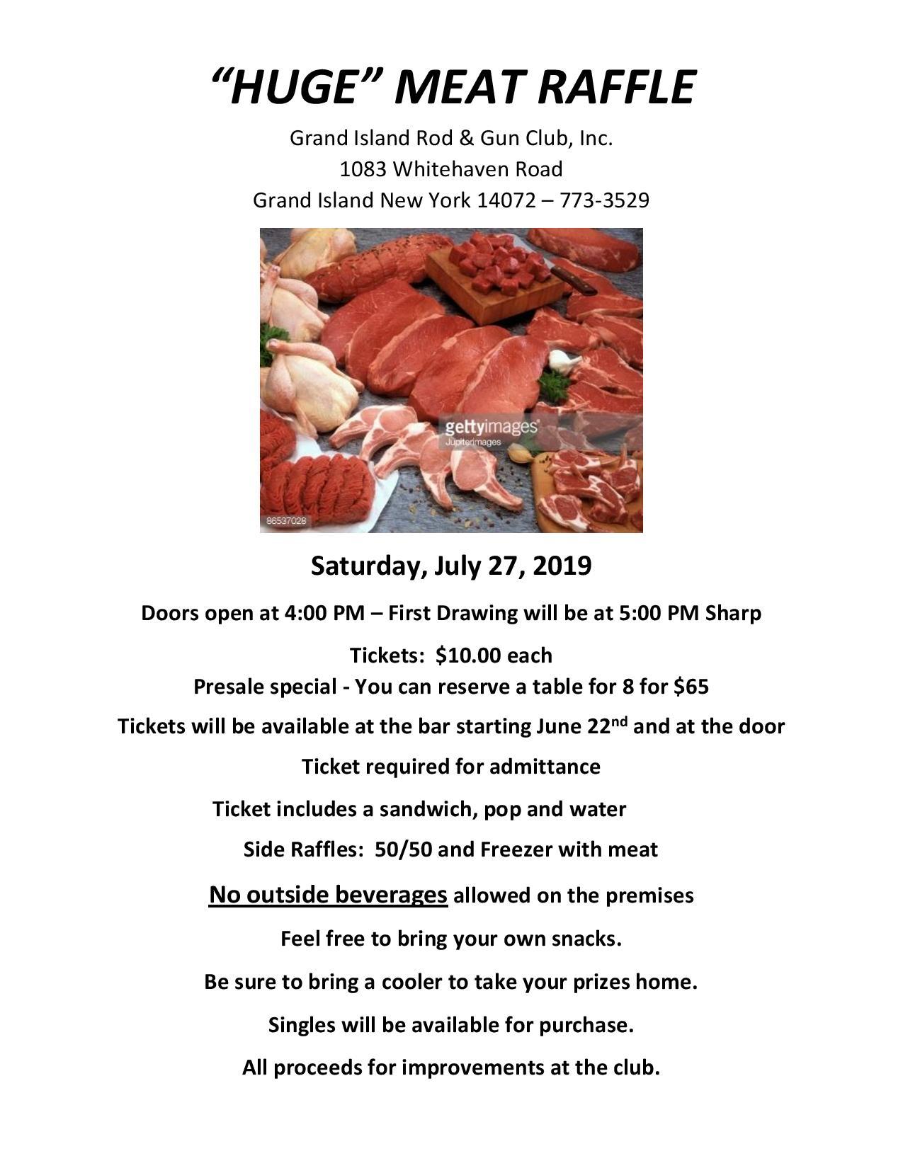 Grand Island Rod & Gun Club Meat Raffle — WNYMeatRaffles