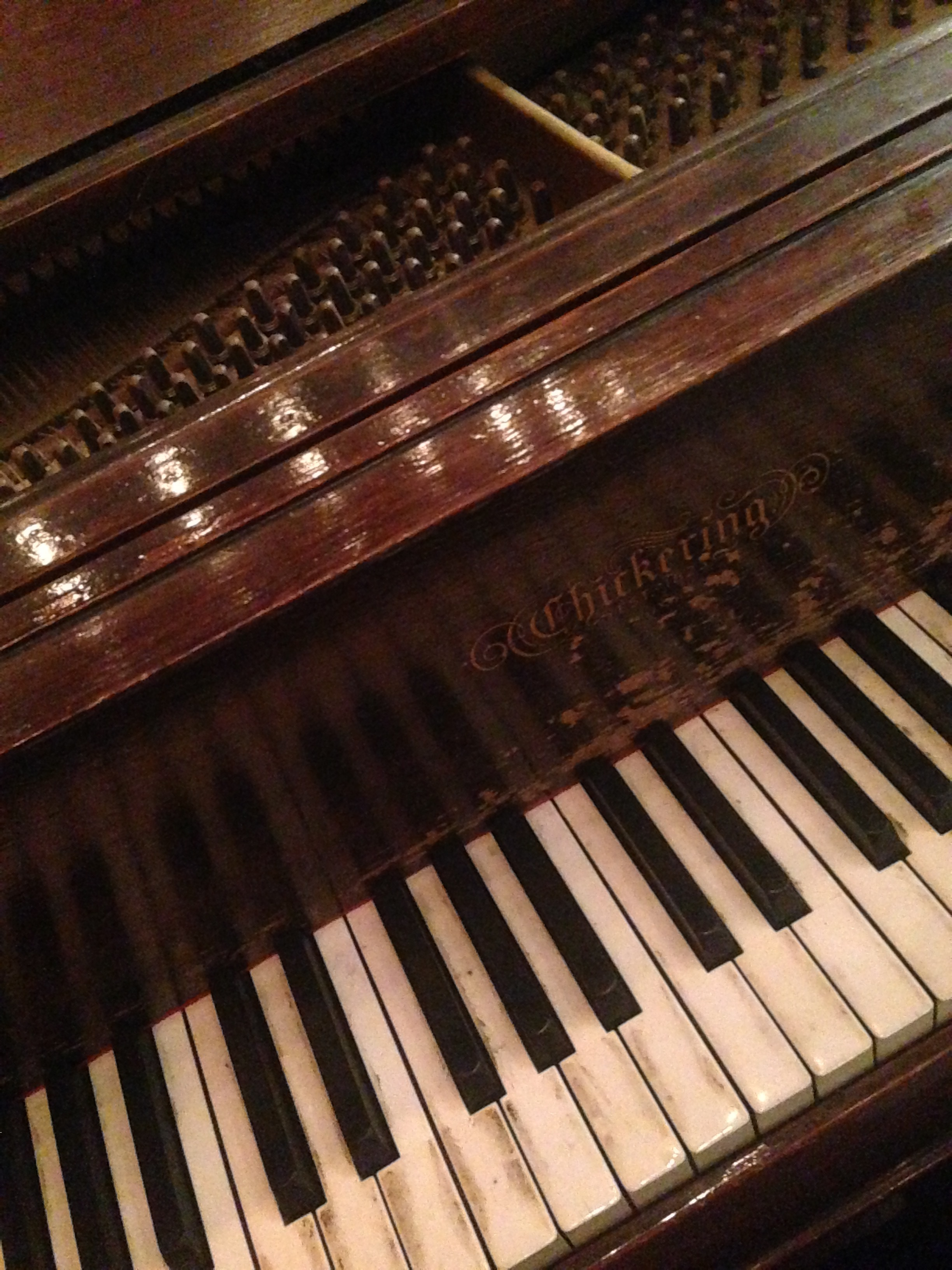 My baby (grand) - 1926 Chickering - weathered and faithful.